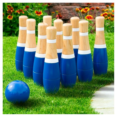 Hey! Play! 8 Inch Wooden Lawn Bowling Set - image 1 of 2