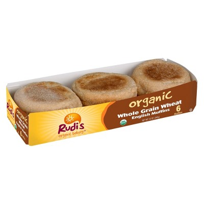 Rudi's Organic Whole Grain Wheat English Muffins - 12oz