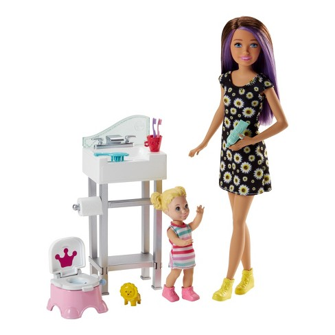 Barbie Skipper Babysitters Inc. Doll and Potty Training Playset - image 1 of 5