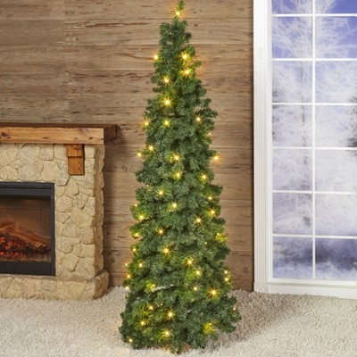 Lakeside Pre-Lit LED Pop Up Artificial Christmas Tree - 6 Feet Tall