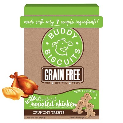 Buddy Biscuits Grain-Free Oven Baked Treats with Roasted Chicken Dry Dog Treats - 7oz