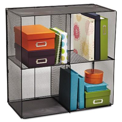 Safco Onyx Mesh Cube 28 1/2w x 14 1/2d x 28 1/2h Black 2172BL