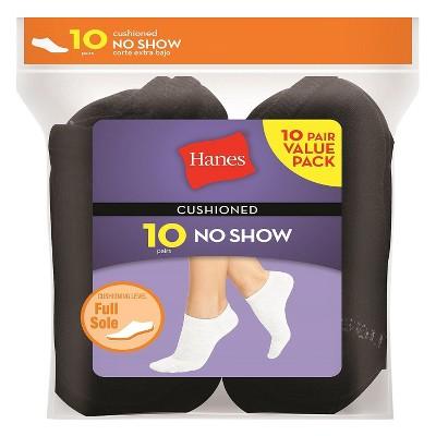 Hanes® Women's 10pk Red Label No Show Sock