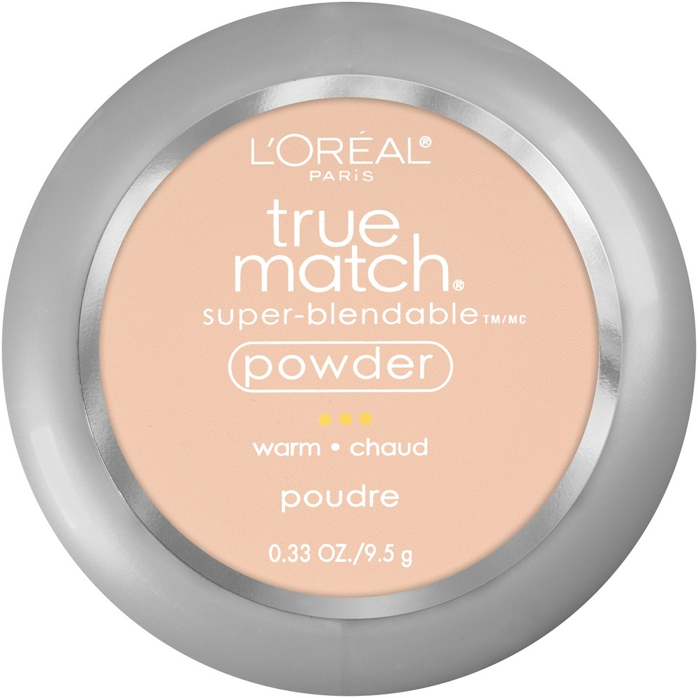 L 39 Oreal Paris True Match Makeup Super Blendable Oil Free Pressed Powder W2 Light Ivory 0 33oz