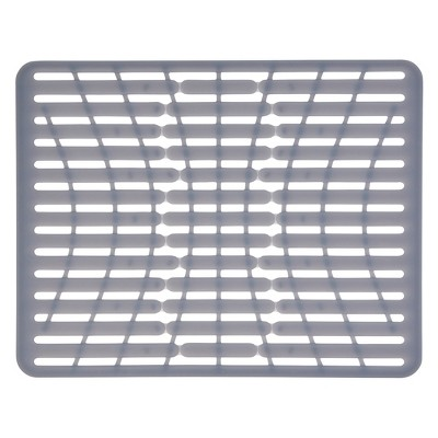 "OXO 16.3"" x 12.8"" Silicone Sink Mat Gray"