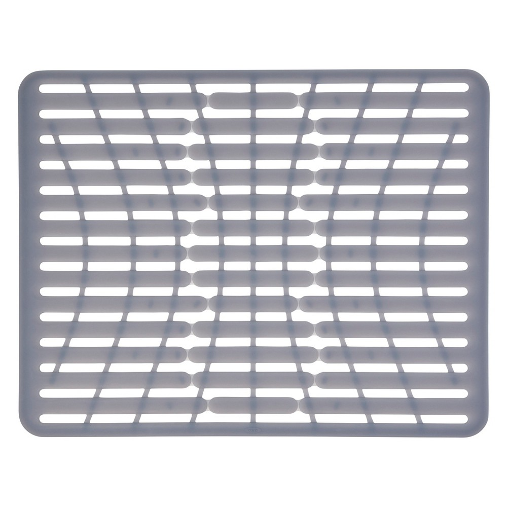 "Image of ""OXO 16.3"""" x 12.8"""" Silicone Sink Mat Gray"""
