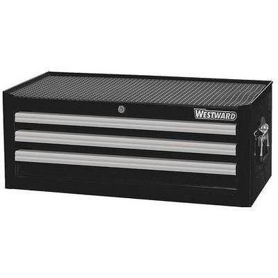 "WESTWARD 32H849 26-5/16""W Intermediate Chest 3 Drawers, Black, 16-15/16""D x"