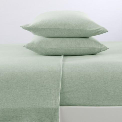 Cotton Jersey Knit Sheet Set Queen, Green Bay Bedding Queen