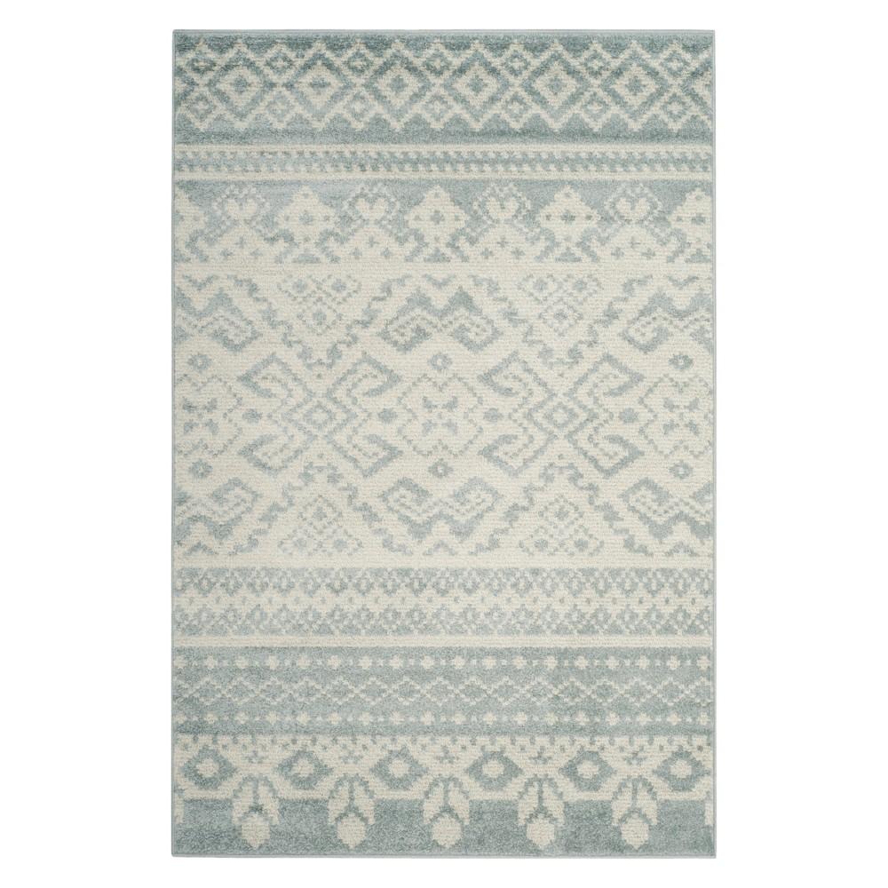 6 X9 Fair Isle Design Area Rug Slate Ivory Safavieh