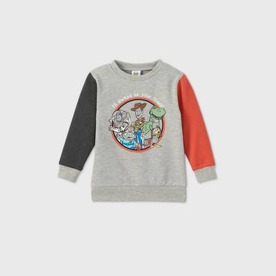 Toddler Boys' Toy Story 4 Fleece Crew Sweatshirt - Heather Gray 4T