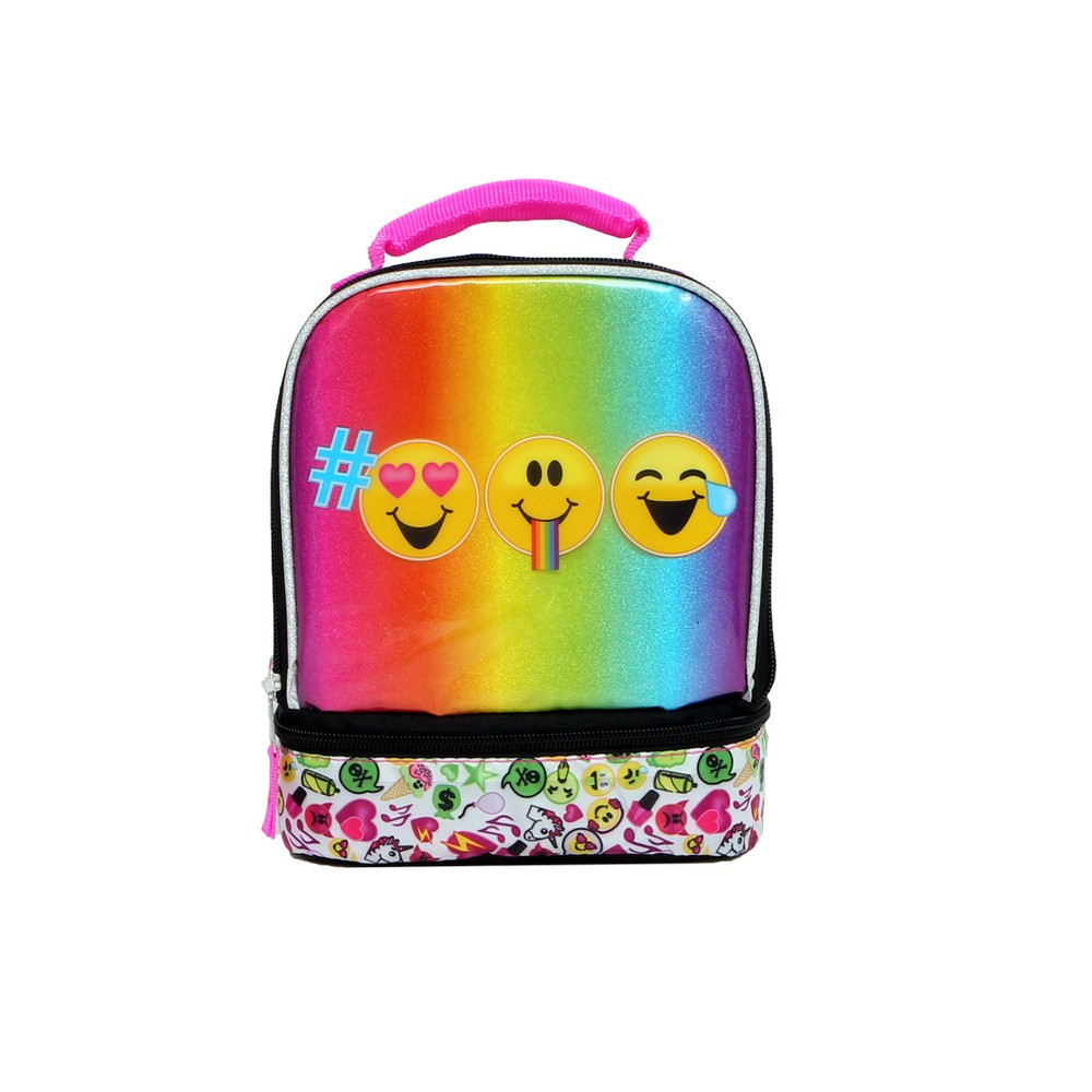 Image of EmojiNation Dual Compartment Lunch Bag - Rainbow