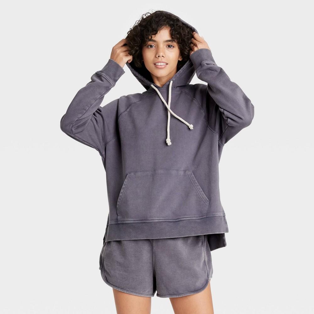 Women 39 S Hooded Sweatshirt Universal Thread 8482 Dark Purple Xs