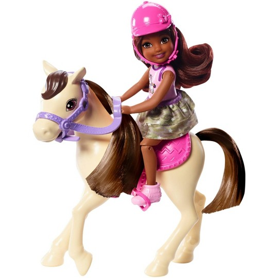 Barbie Club Chelsea Doll and White Pony image number null