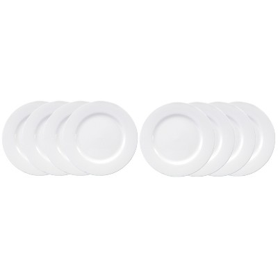 Oneida Chef's Table Porcelain Salad Plates White 8  - Set of 8