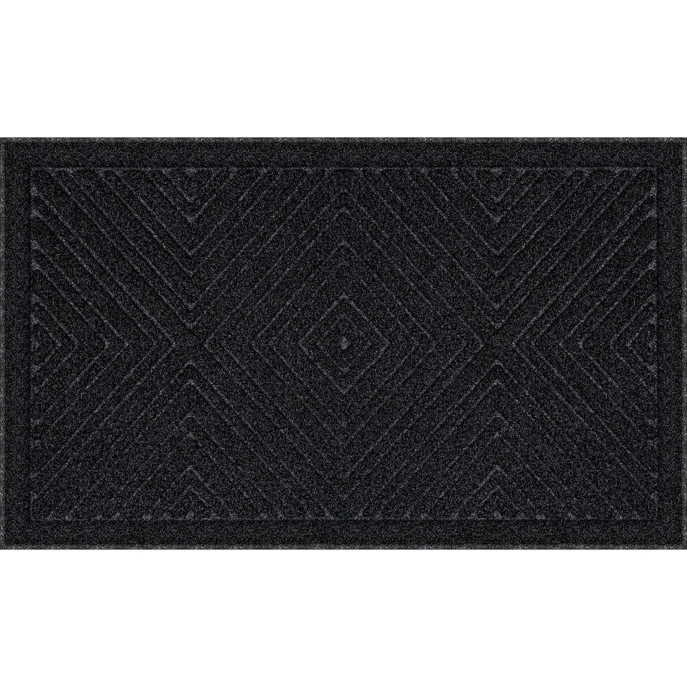 Image of 2'x3' Mega Scrapper Diamond Gem Doormat Black - Apache Mills