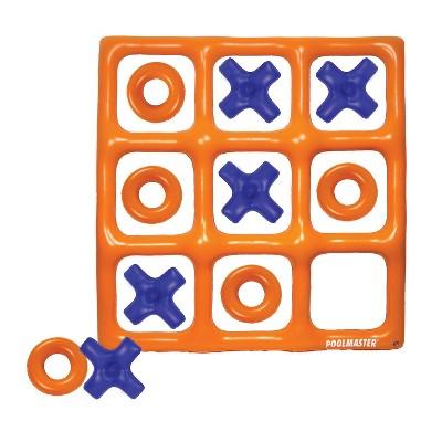 "Swimline 48"" Orange and Blue Reversible Tic Tac Toe Inflatable Pool Game"