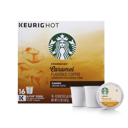 Starbucks Caramel Flavored Medium Roast Coffee - Keurig K-Cup Pods - 16ct - image 1 of 5