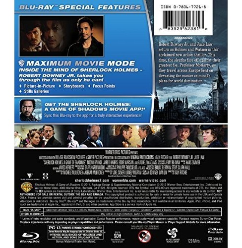 Sherlock holmes:Game of shadows (Blu-ray) - image 1 of 1