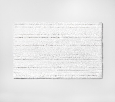 Solid Striped Bath Rug White - Project 62™