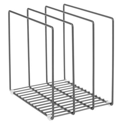 mDesign Metal Wire Pot/Pan Organizer Rack for Kitchen