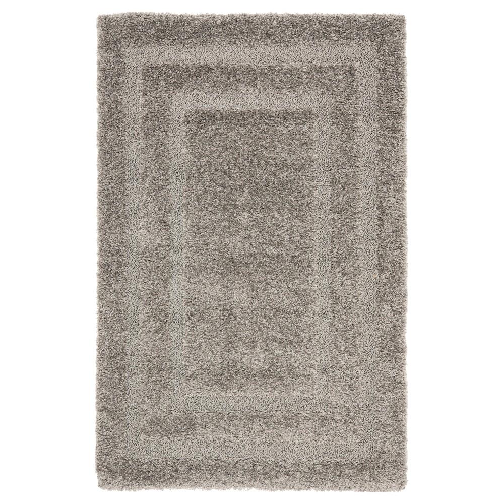 Gray Abstract Shag/Flokati Loomed Area Rug - (8'X10') - Safavieh