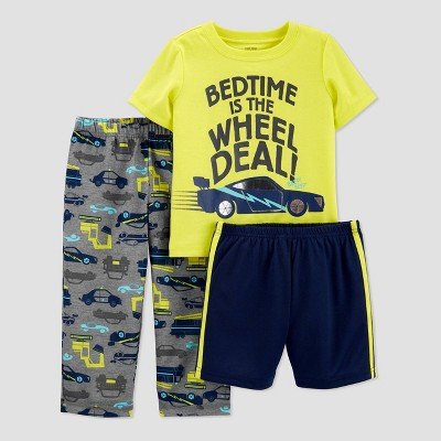 Toddler Boys' 3pc Bedtime Pajama Set - Just One You® made by carter's Yellow 3T