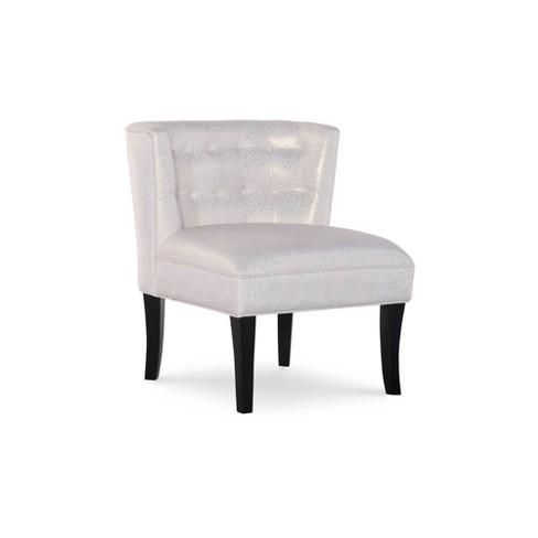 Ellington Tufted Accent Chair Metallic Cream Powell Company - image 1 of 4