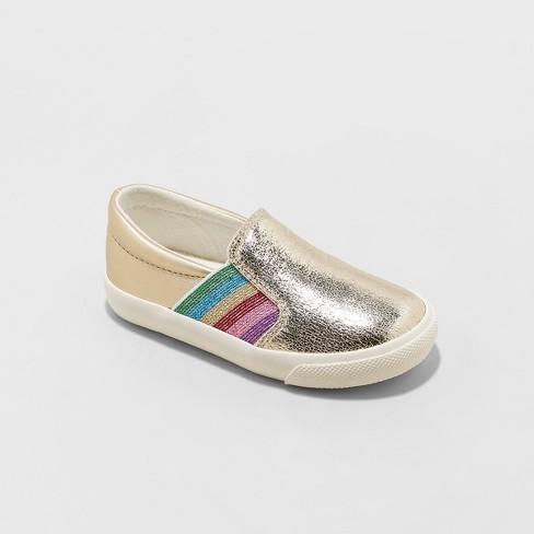 be635bb984e9 Toddler Girls' Magdalane Metallic Twin Gore Sneakers - Cat & Jack™ Gold :  Target