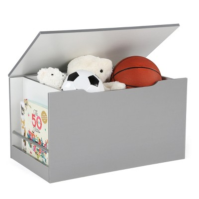 Storage Chest With Book Display - Gray/White - Curious Lion