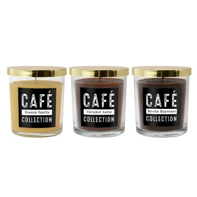 11oz 3ct Café Collection Scented Candle Set - Lumabase