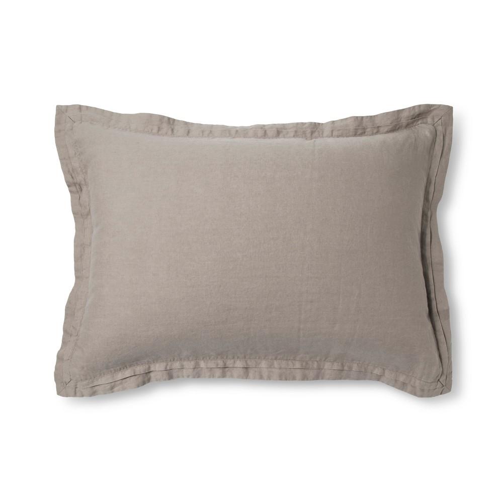 Image of Afternoon Tea Lightweight Linen Pillow Sham (King) - Fieldcrest