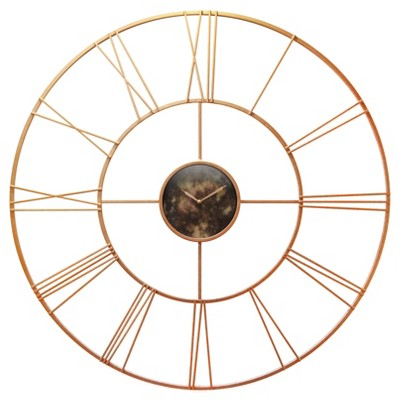 Infinity Instruments Wall Clock - Rose Gold Modern Tower