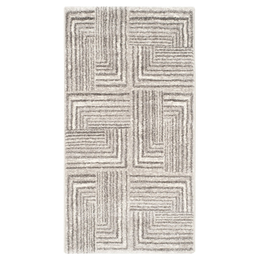 Kingston Accent Rug - Light Gray / Dark Gray ( 2' X 3' 7 ) - Safavieh