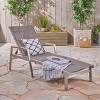 Oxton Aluminum & Outdoor Mesh Patio Chaise Lounge - Gray - Christopher Knight Home - image 2 of 4