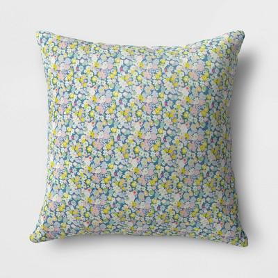 Floral Outdoor Throw Pillow DuraSeason Fabric™ Pink - Opalhouse™