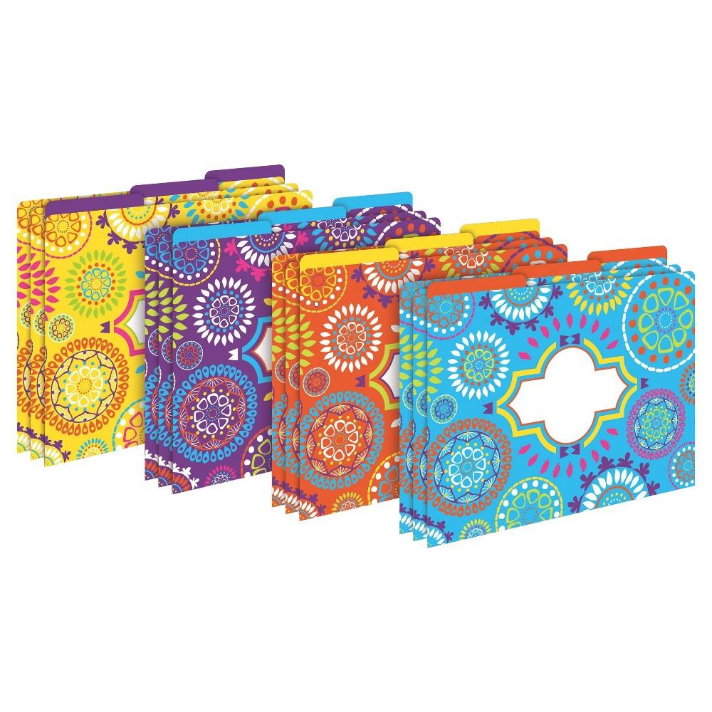 Barker Creek File Folders, Multi Design, 9.5 x 12, 12ct - Moroccan, Multi-Colored