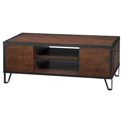 Rosemary Industrial Metal Accent Coffee Table Vintage Walnut - HOMES: Inside + Out