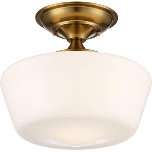 Regency Hill Schoolhouse Ceiling Light, Bathroom Flush Mount Light