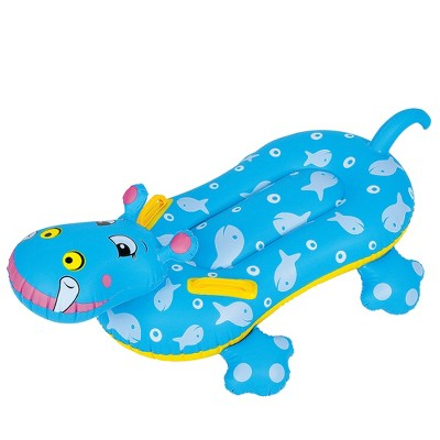 Pool Central 3' Blue Children's Inflatable Hippo Swimming Pool Rider