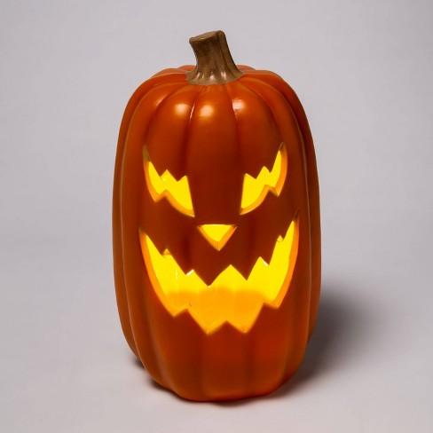 "16"" Light Up Orange Halloween Jack-O'-Lantern (Sharp Teeth) - Hyde & EEK! Boutique™ - image 1 of 3"