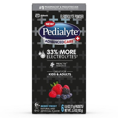 Pedialyte AdvancedCare Plus Electrolyte Powder - Berry Frost - 3.6oz Total
