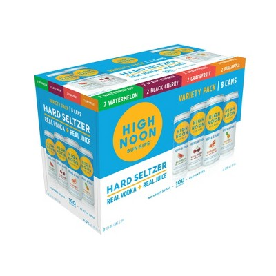High Noon Sun Sips Hard Seltzer Variety Pack - 8pk/355ml Cans