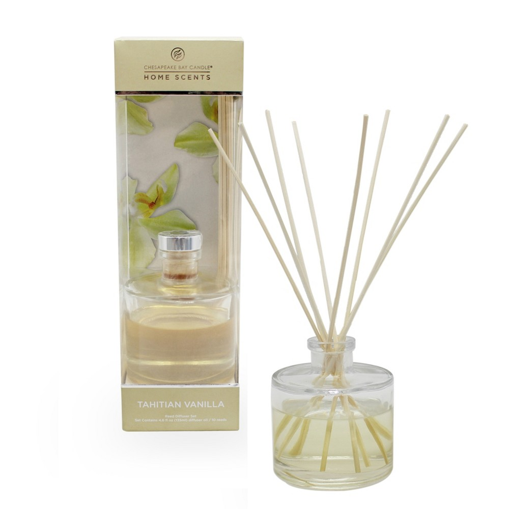 4.5oz Oil Diffuser Tahitian Vanilla - Home Scents By Chesapeake Bay Candle, Ivory