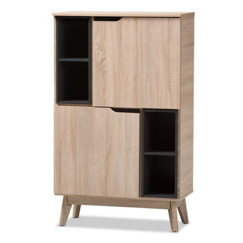 Fella Mid - Century Modern Two - Tone Wood Multipurpose Storage Cabinet - Brown - Baxton Studio - image 1 of 7