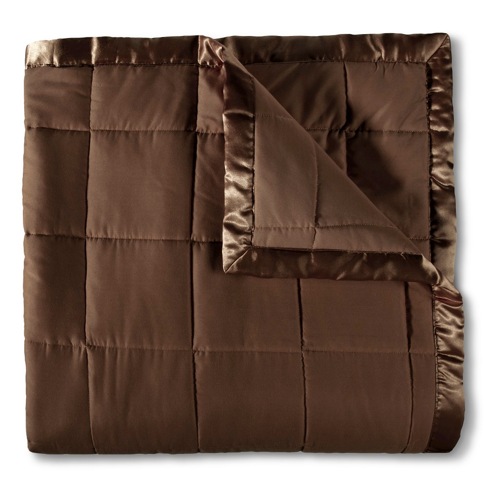 Image of Elite Home Down Alt Microfiber Blanket - Chocolate (Brown) (Full/Queen)
