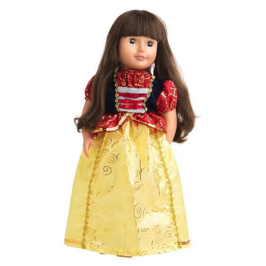 Little Adventures Doll Dress - Snow White, Size: One Size, Red Yellow Blue image number null