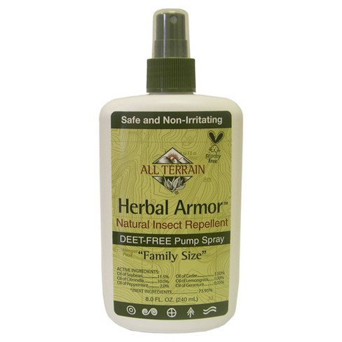 8oz Natural Insect Repellent Pump Spray Herbal Armor Target
