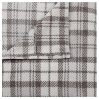 Micro Fleece Sheet Set (Queen)Gray Plaid