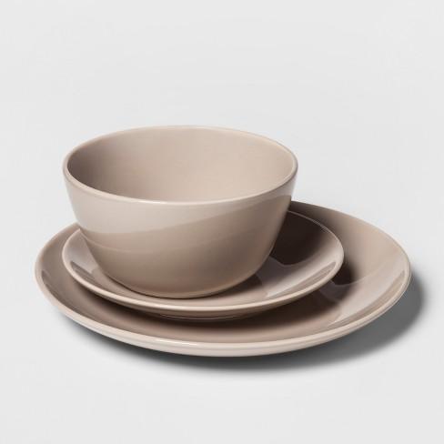 12pc Avesta Stoneware Dinnerware Set Bone Project 62