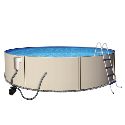 "Rugged Steel 12' Round 48"" Deep Metal Wall Swimming Pool Package - image 1 of 5"